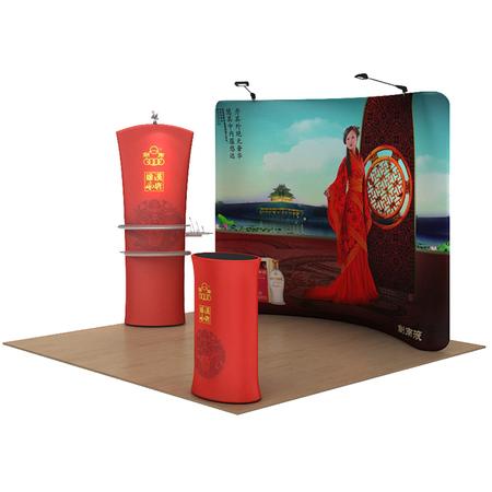 广州快幕秀 快展背景墙 S型 U型快幕秀 宽幅热印 广告会议展览