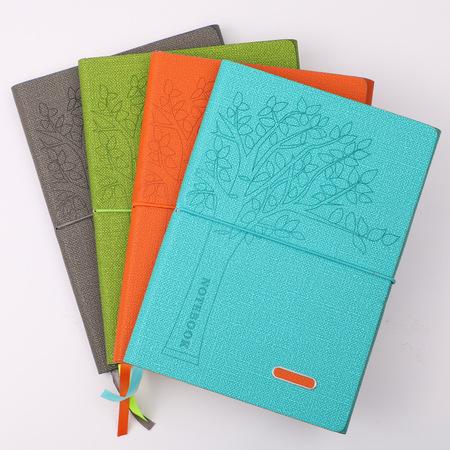A5方格内页平装记事本pu皮超质感多色笔记本道林纸日记本大本子