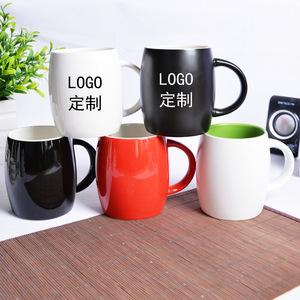 创意杯子 酒桶杯 鼓形马克杯 广告杯陶瓷 定制logo