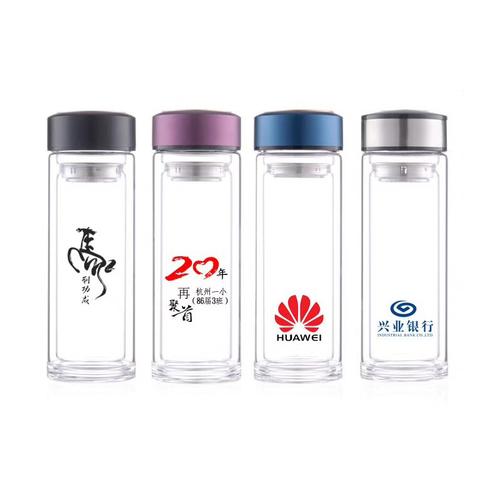 定制广告杯 双层玻璃杯 水杯 杯子定做印广告logo礼品杯
