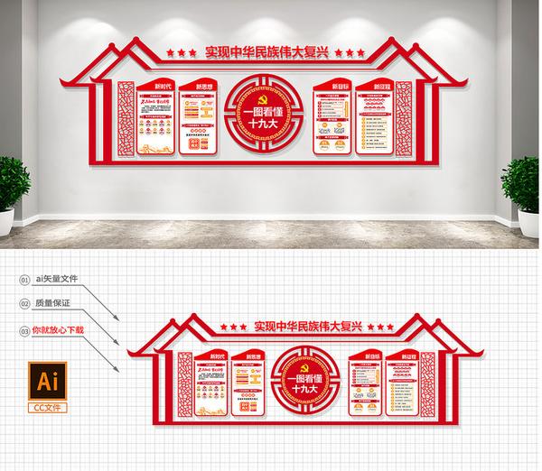 广州党建文化展厅,佛山党建展馆,党员活动室,企业荣誉室,党群活动中心3d效果图设计制作