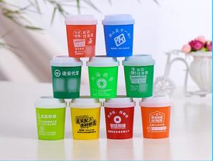 厂家直销牙签筒创意礼品塑料牙签罐欧式咖啡杯牙签盒广告牙签瓶