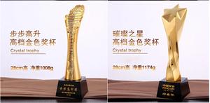 定制金属奥斯卡小金人奖杯 表面抛光电镀工艺金银铜现货一套起发