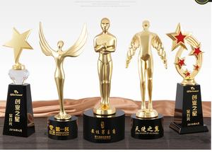 个性奖杯定制奥斯卡小金人奖杯 比赛活动奖杯定做企业颁奖奖杯